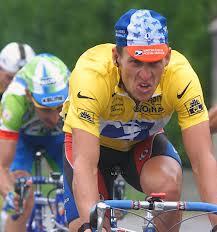 Lance riding in the Tour De France!