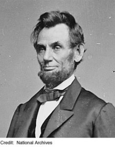 Abraham Lincoln  (February 12, 1809 – April 15, 1865)