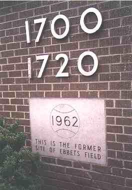 Ebbets Field plaque