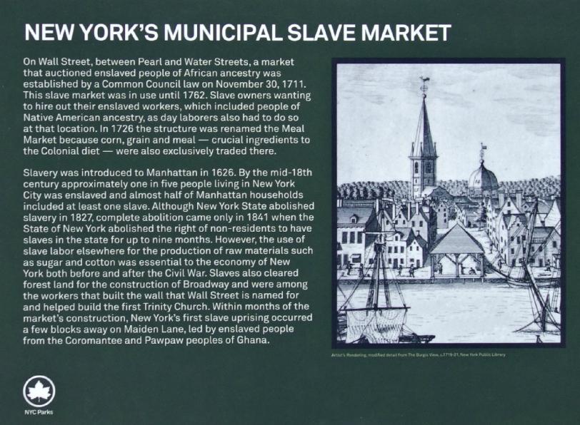 Wall Street Slave Market Circa. 1715
